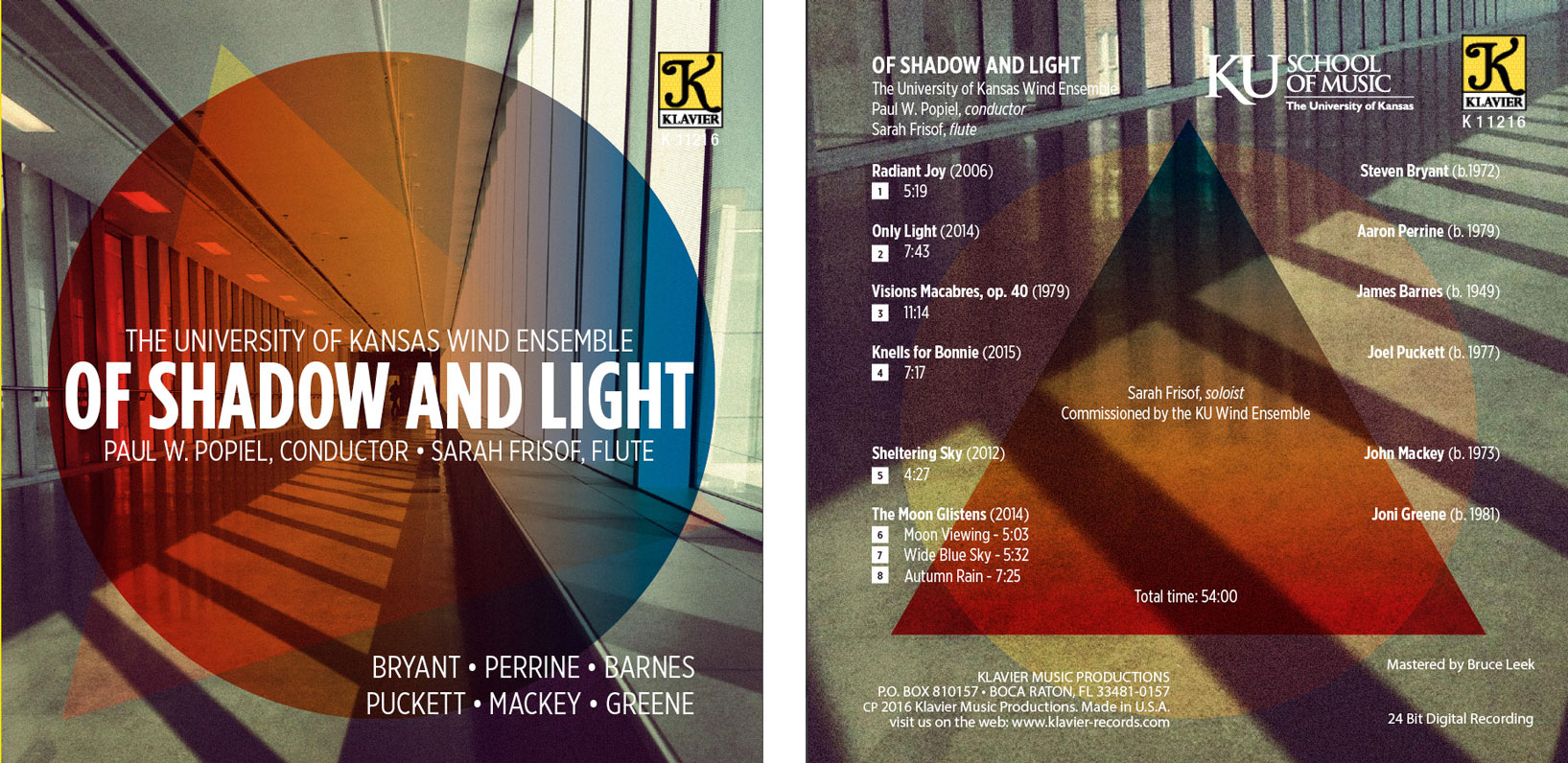 KU Wind Ensemble Of Shadow and Light album cover