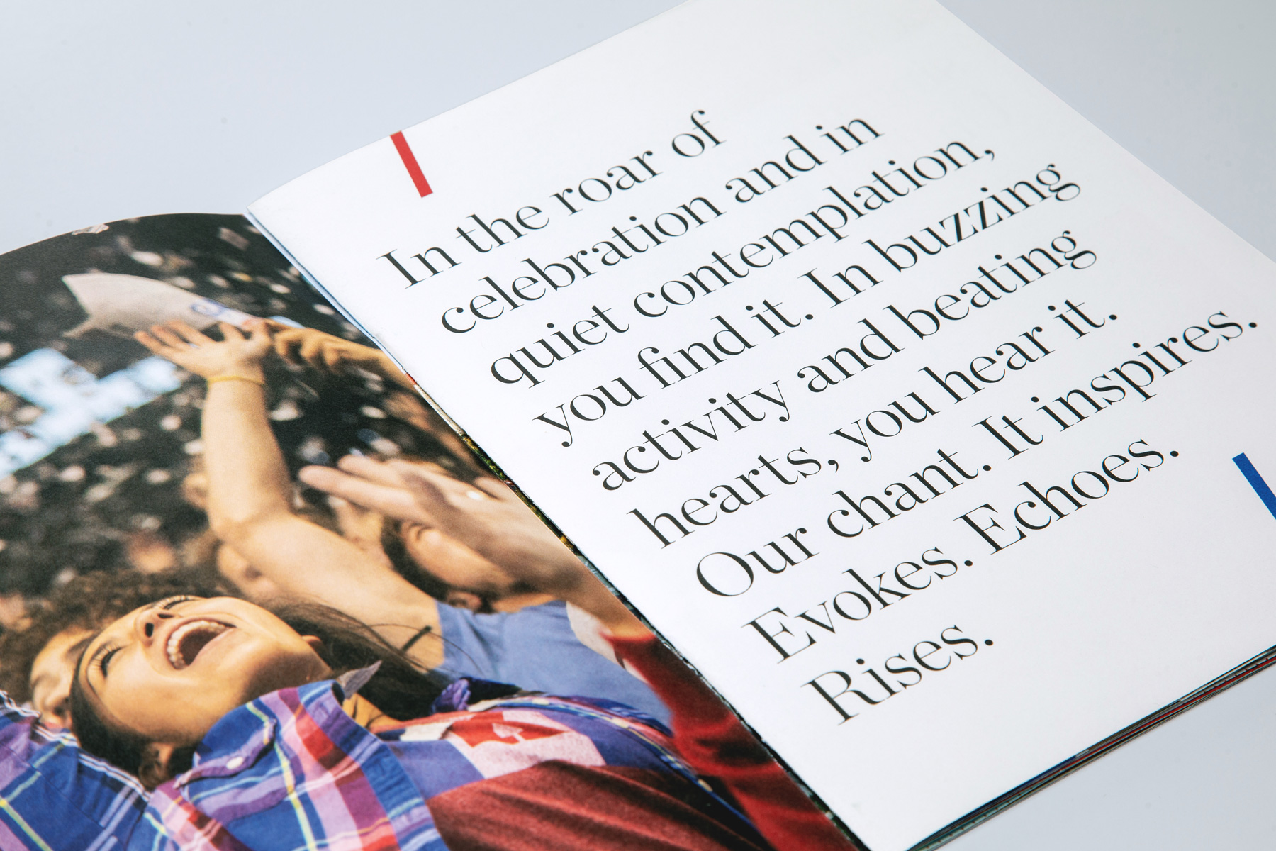 KU Viewbook opening spread highlighting type layout