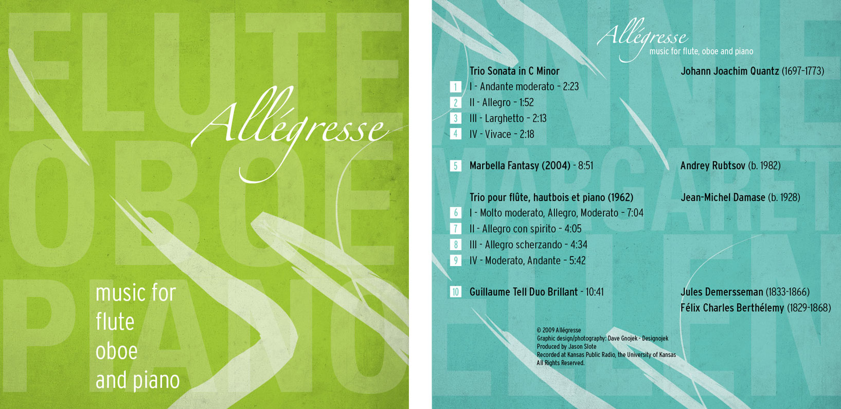 Allegresse - Music for Flute, Oboe, and Piano cover