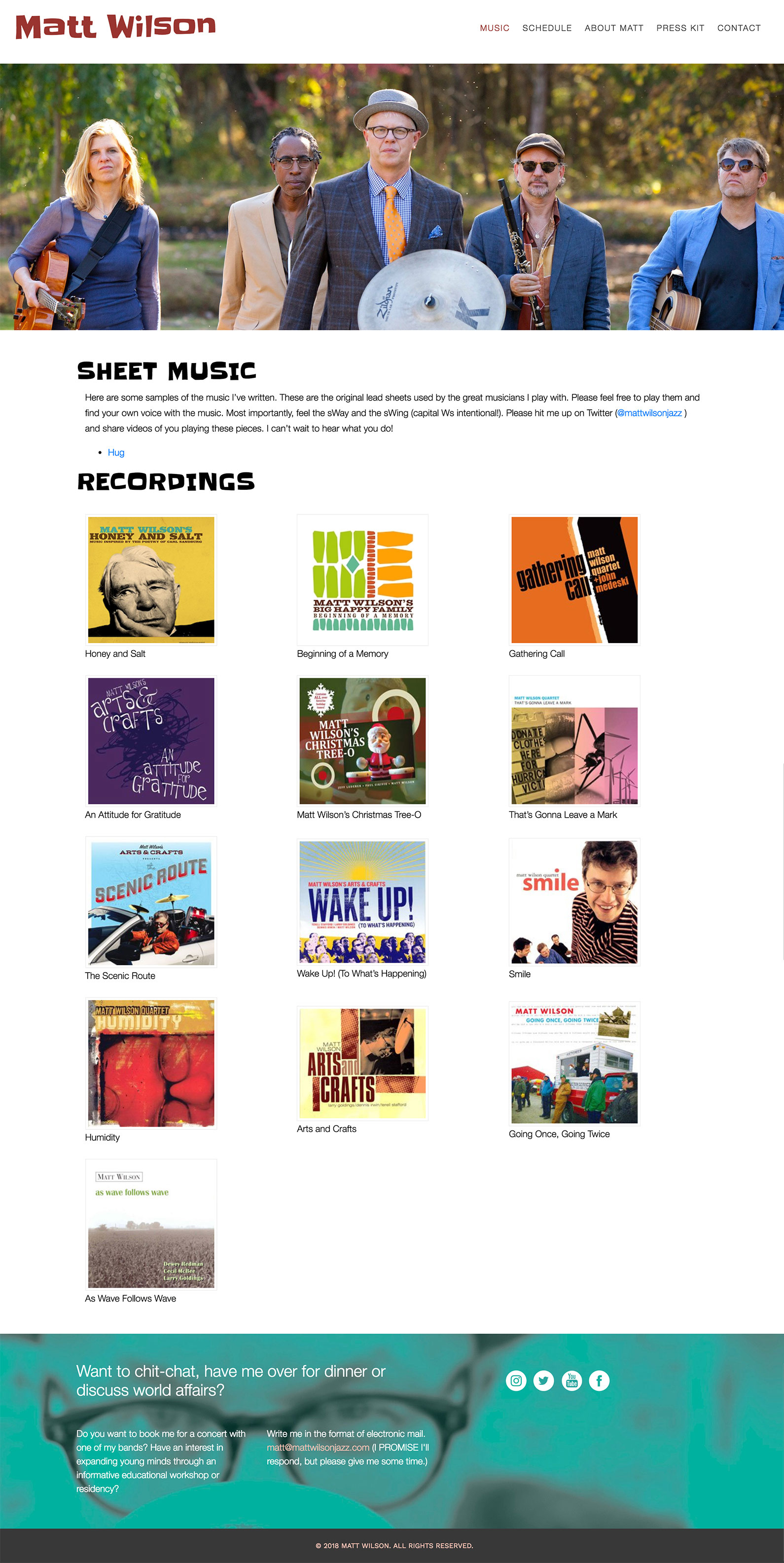 website recordings section layout