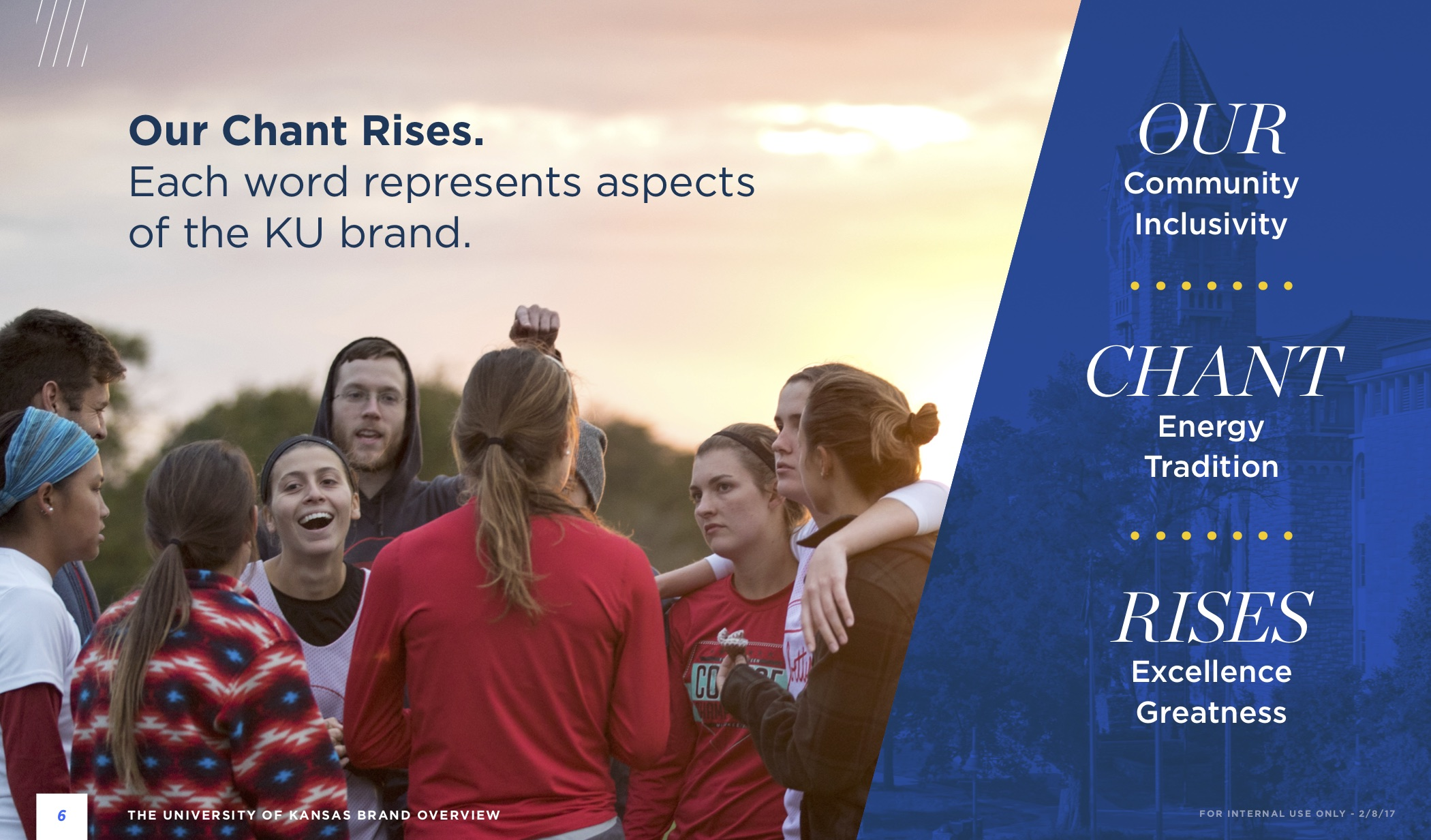 KU Brand book spread - Our Chant Rises