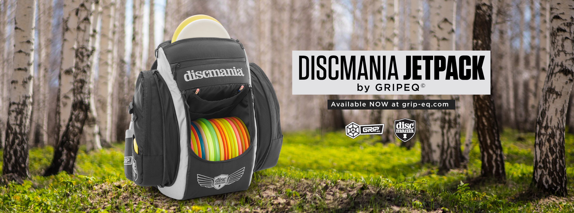 Discmania JetPack bag social promo graphic