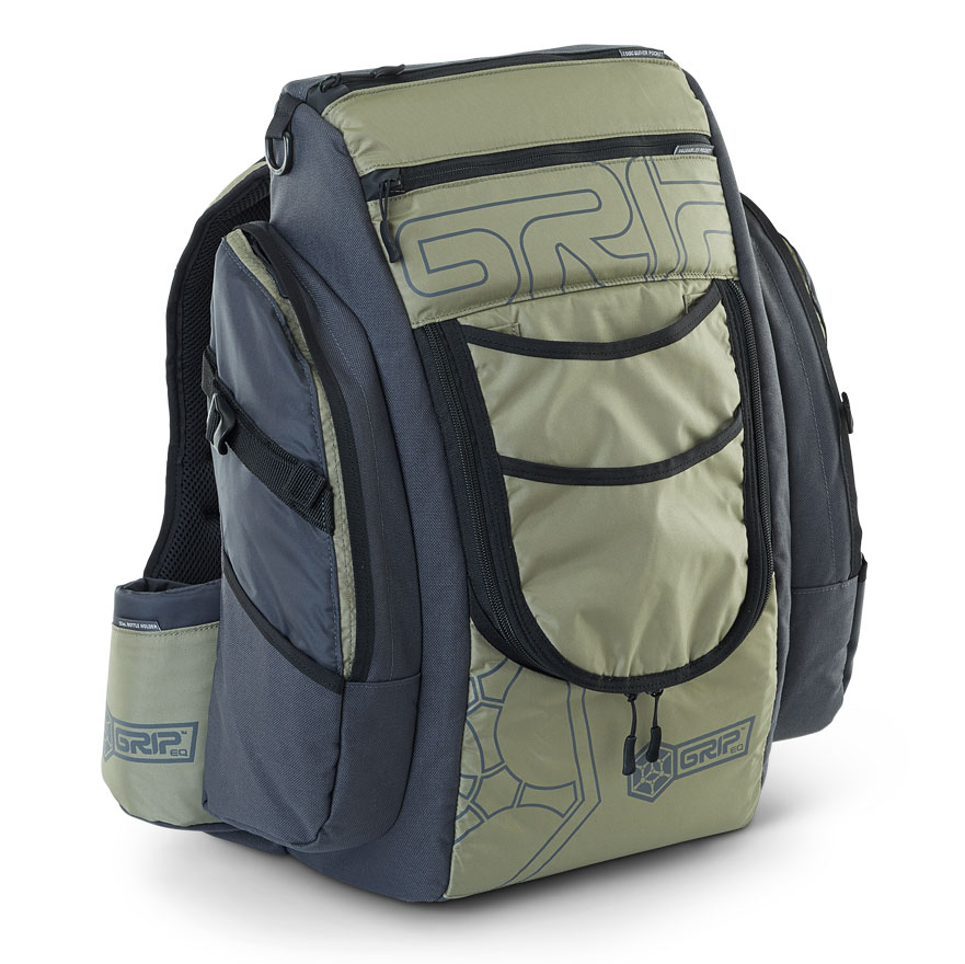 GRIPeq green disc golf bag