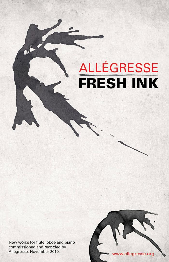 Allegresse poster ink splatters for Fresh Ink release