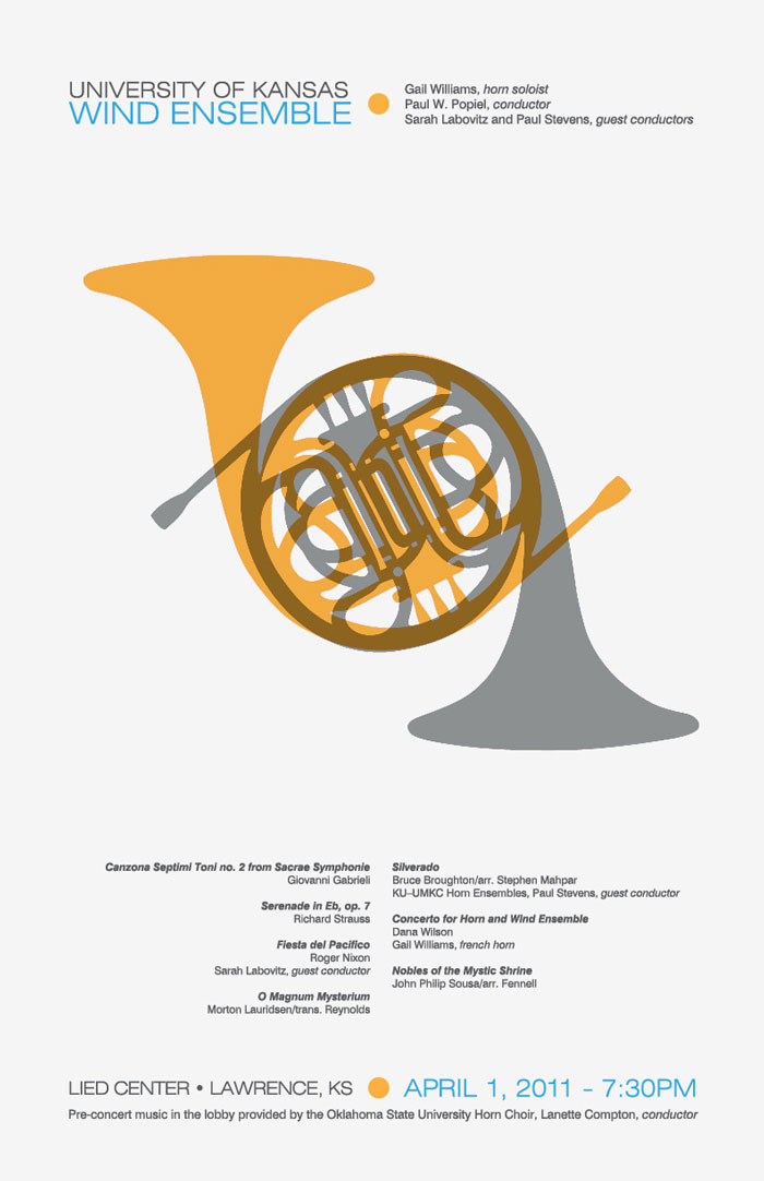 french horn concert poster