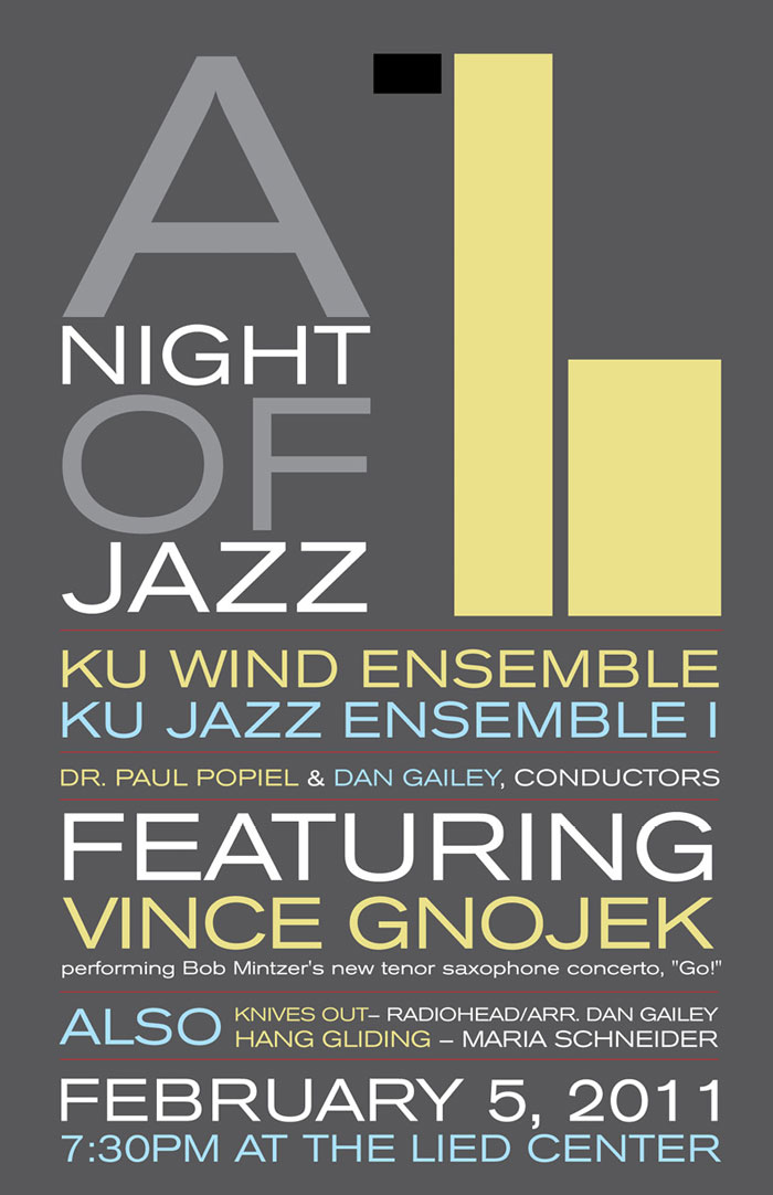 type-heavy jazz poster